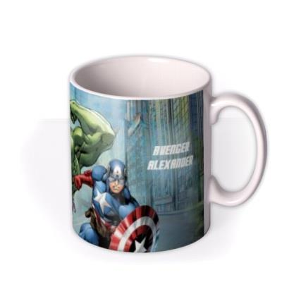 Marvel The Avengers City Scene Personalised Mug