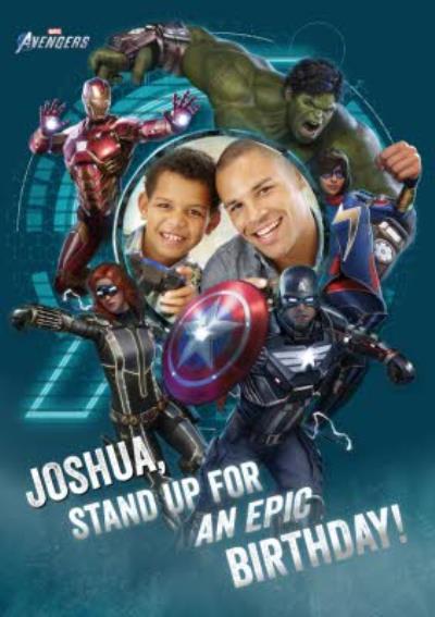 Avengers Gamerverse Epic Birthday Photo Upload Card
