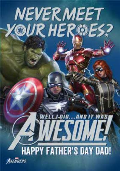 Avengers Gamerverse Hero Father's Day Card