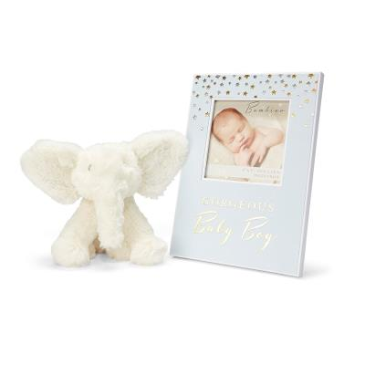 Baby Boy Frame and Soft Toy Bundle
