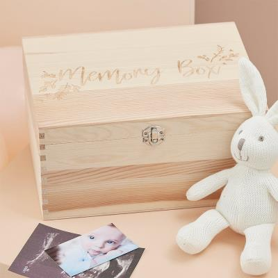 Memory Wooden Box - Baby Keepsakes