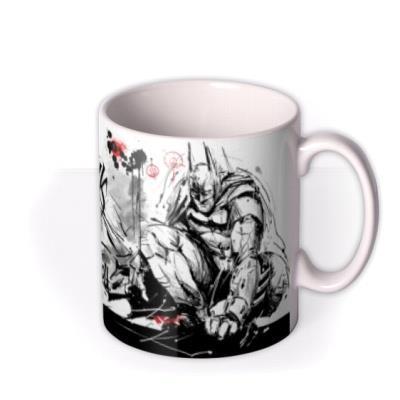 DC Batman Arkham Knight Graffiti Illustrated Birthday Mug