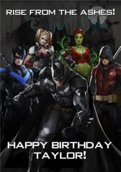 DC Batman Arkham Knight Characters Birthday Card