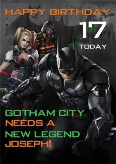 DC Batman Arkham Knight 17 Today Birthday Card
