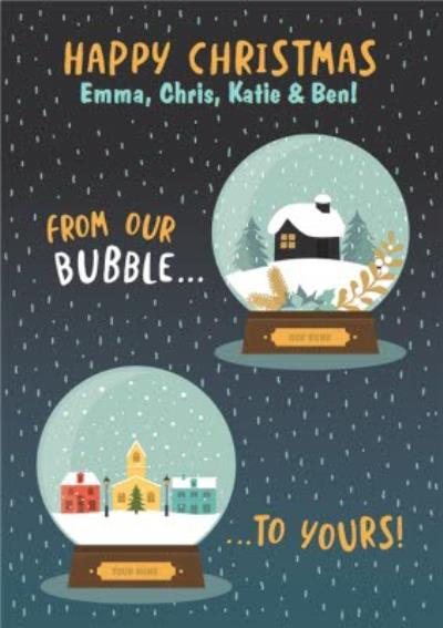 Happy From Our Bubble To Yours Funny Card