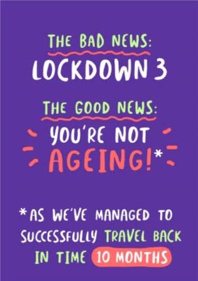 The Bad News Lockdown 3 Funny Typographic Covid Card