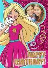 Barbie And Glitter Happy Birthday Photo Card