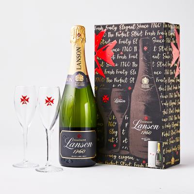 Lanson Black Label Glass Gift Set