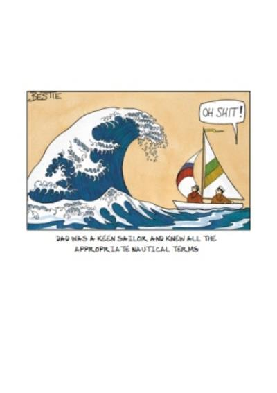 A Keen Yachtsman Funny Personalised Birthday Card For Dad