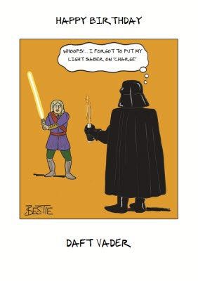 Funny Star Wars Card