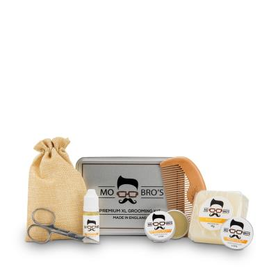 Mo Bros Beard Grooming Kit 8 piece Vanilla & Mango Kit