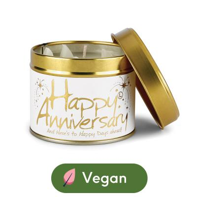 Lily Flame Happy Anniversary Candle