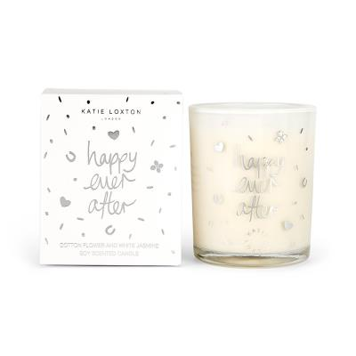 Katie Loxton 'Happy Ever After' Cotton & White Jasmine Candle