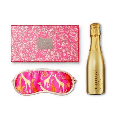 Sara Miller Silk Eye Mask & Prosecco Gift Set
