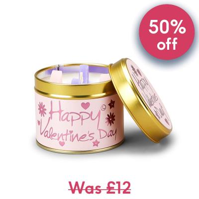 Lily Flame Happy Valentine's Day Candle