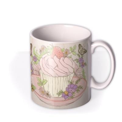 Butterflies and Cupcake Photo Upload Mug