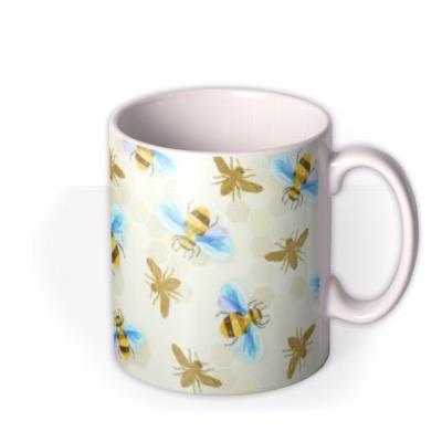 Alphabet and Bumblebee Custom Mug