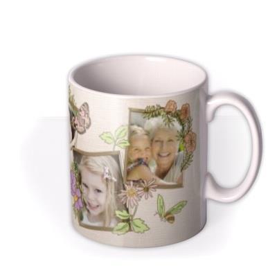 Easter Pink Floral Photo Upload Mug