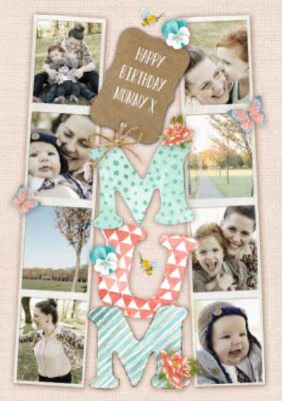 Photo Strips Personalised Photo Upload Birthday Card For Mum