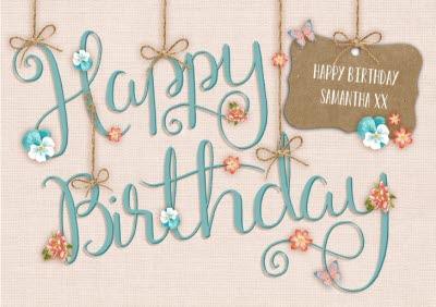 Floral Craft Happy Birthday Card