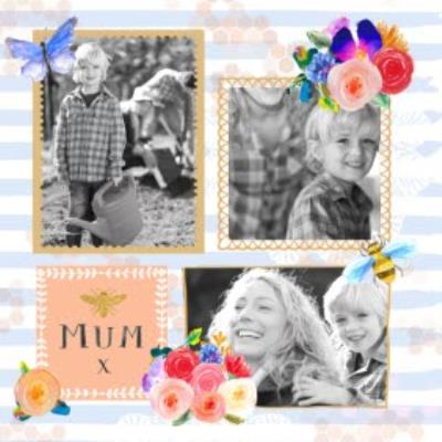 Mother's Day Card - Photo Upload - Floral