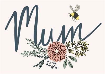 Flowers And Bumblebee Mum Card