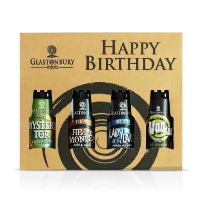 Happy Birthday Beer Gift Set 4x500ml