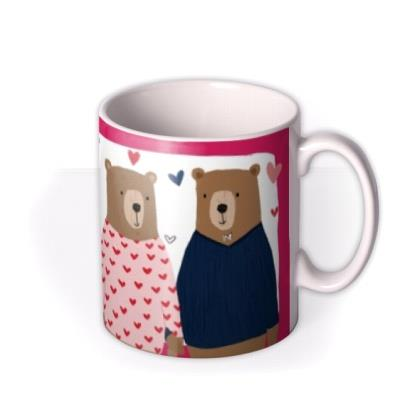 Cute Bears Love You Beary Much Valentines Day Mug