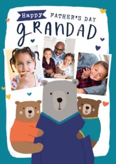 Happy Father's Day Grandad Photo Upload Card