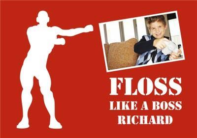 Birthday Card Photo Upload Floss Floss Like A Boss