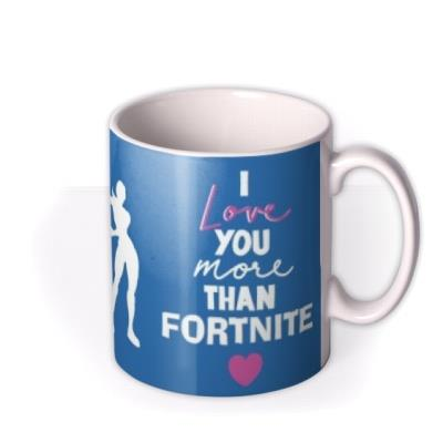 Dad I love you more than Fortnite Father's Day photo upload mug