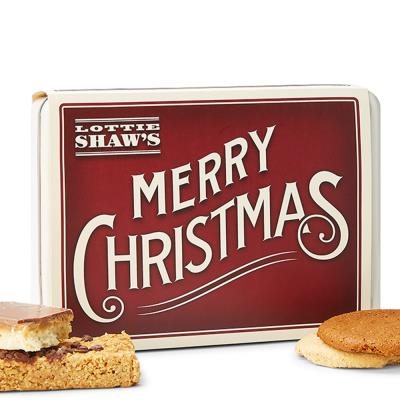 Merry Christmas' Biscuit Tin
