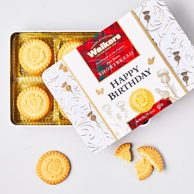 Happy Birthday Pure Butter Shortbread Thistle Rounds (300g)