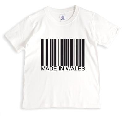 Black Barcode On White Background Made In WalesTshirt