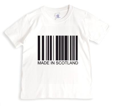 Black Barcode On White Background Made In Scotland Tshirt