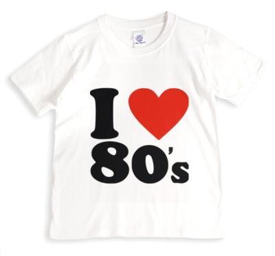 I Love 80s BlackText On White Tshirt