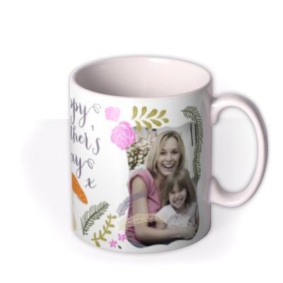 Mother's Day Flower Photo Upload Mug