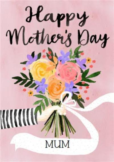 Traditional Illustrated Floral Mother's Day Card