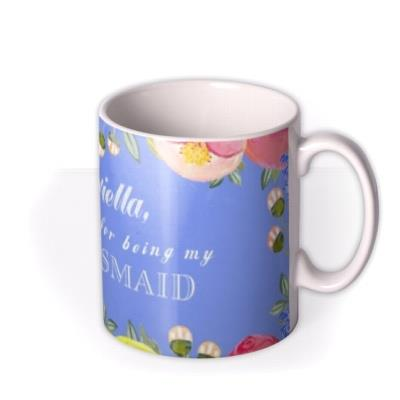 Wedding Bridesmaid Thank You Personalised Mug