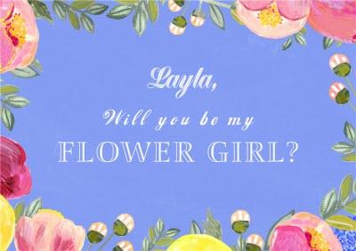 Personalised Bright Flowers Will You Be My Flower Girl Card