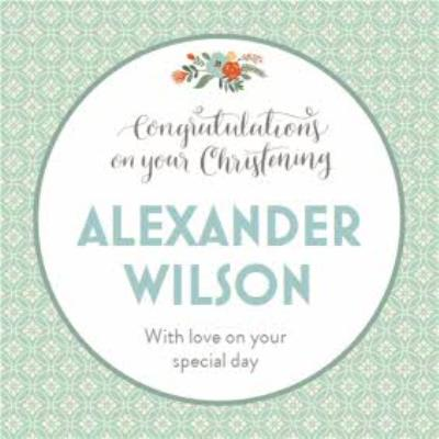 Mint Congratulations On Your Special Day Personalised Christening Card