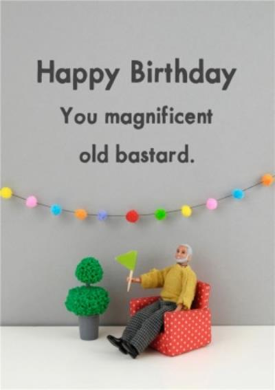 Funny Dolls Magnificent Old Age Birthday Card