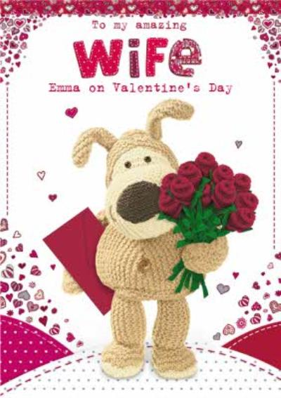 Boofle Bear Personalised Valentines Day Card