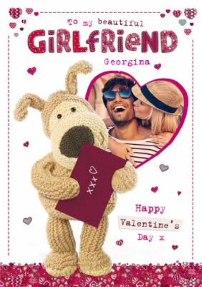 Boofle Bear To My Beautiful Girlfriend Valentines Day Card