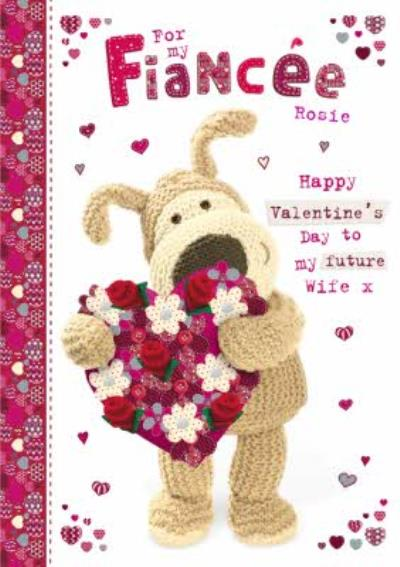 Boofle Bear For My Fiance Valentines Day Card