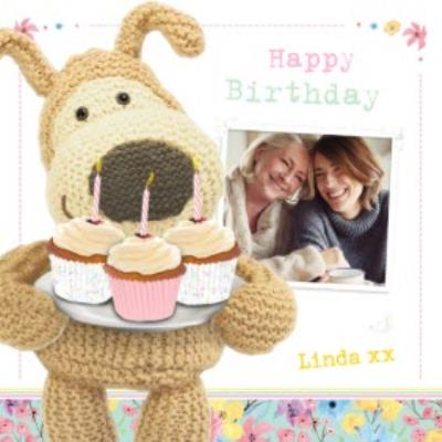 Boofle With A Plate Of Cupcakes Personalised Birthday Card