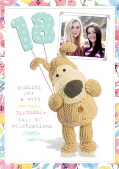 Boofle Happy 18Th Birthday Photo Card