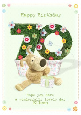 Boofle Happy 70Th Birthday Card