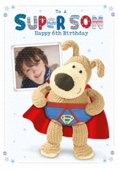 Personalised Photo Happy Birthday Super Son Card