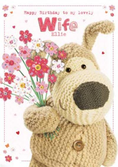 Boofle Happy Birthday To My Lovely Wife Card